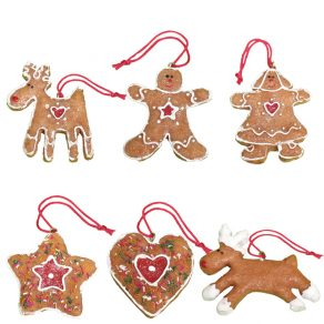 Gingerbread Mini Decorations (six pack)
