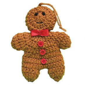 Knitted Gingerbread man tree decoration