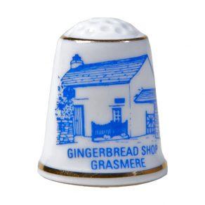 Bone China Gingerbread Shop Thimble