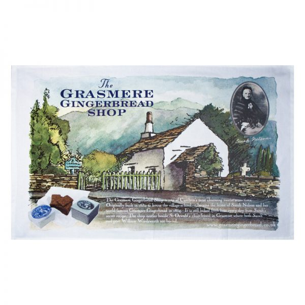 Souvenir Tea Towel of The Grasmere Gingerbread Shop 1