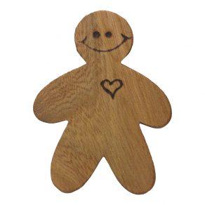 Wooden Gingerbread Man Fridge Magnet