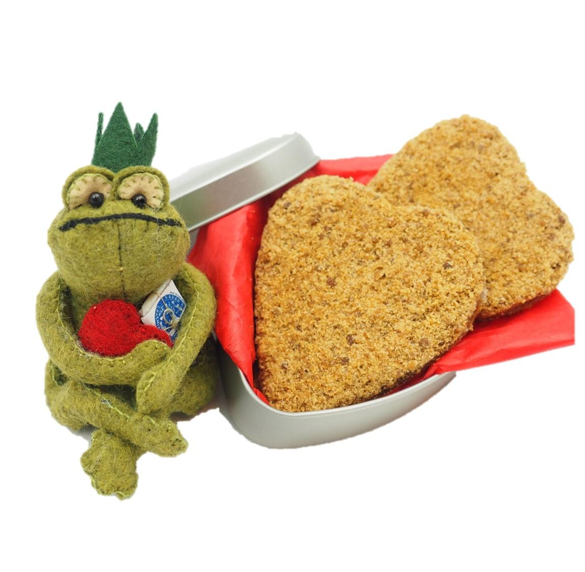 Frog Prince grasmere gingerbread hearts for valentines
