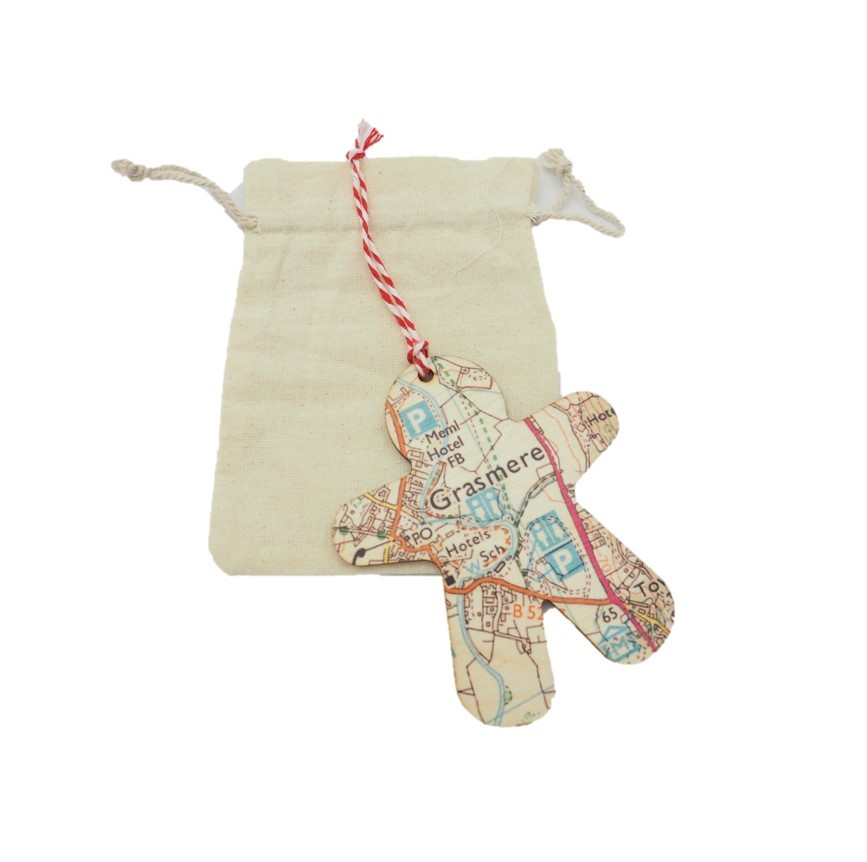 Grasmere map decoration go your own way apparel